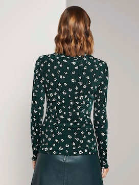 Langarmshirt mit Blumen Print - 2 - TOM TAILOR Denim