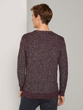 Knitted sweater with a textured pattern - 2 - TOM TAILOR
