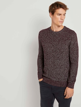 Knitted sweater with a textured pattern - 5 - TOM TAILOR