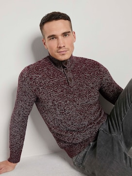 Troyer Pullover met getextureerd patroon - 5 - TOM TAILOR
