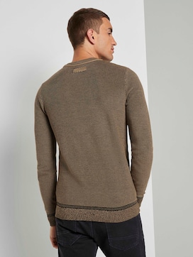 Finely patterned sweater - 2 - TOM TAILOR