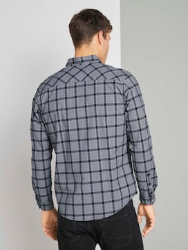 Check stretch shirt - 2 - TOM TAILOR
