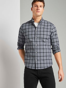 Check stretch shirt - 5 - TOM TAILOR