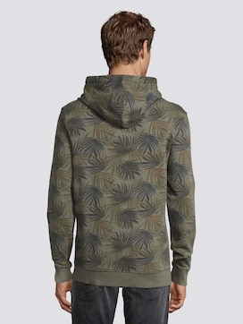 Hoodie with a palm leaf print - 2 - TOM TAILOR