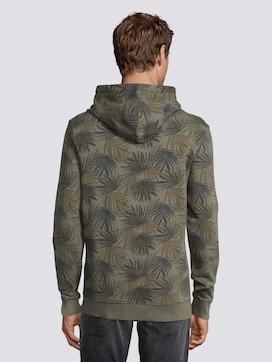 Hoodie met Palm Leaf Print - 2 - TOM TAILOR