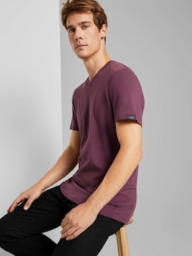 Basic Shirt mit V-Ausschnitt - 5 - TOM TAILOR