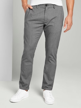 Finely textured chinos - 1 - TOM TAILOR