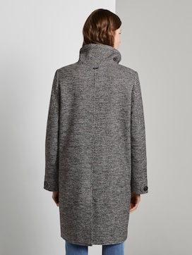 Tweed coat with a stand-up collar - 2 - TOM TAILOR