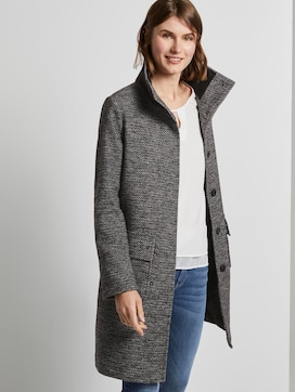 Tweed coat with a stand-up collar - 5 - TOM TAILOR