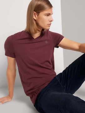 T-shirt with a V-neckline - 5 - TOM TAILOR Denim