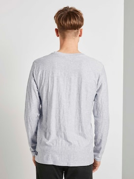 Langarmshirt mit Streifenstruktur - 2 - TOM TAILOR Denim