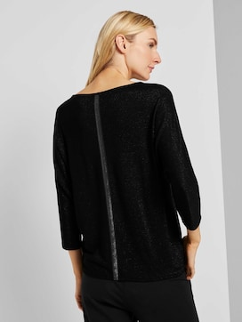 Glitter shirt with bat sleeves - 2 - TOM TAILOR