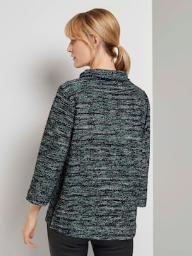 Boucle sweatshirt with a submarine neckline - 2 - TOM TAILOR