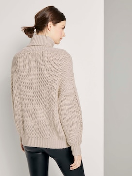 Rollkragenpullover mit Strickmuster - 2 - TOM TAILOR Denim