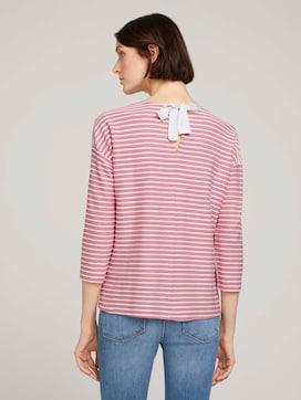 Striped shirt with bow details - 2 - TOM TAILOR Denim