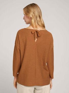 Gestreept shirt met strik detail - 2 - TOM TAILOR Denim