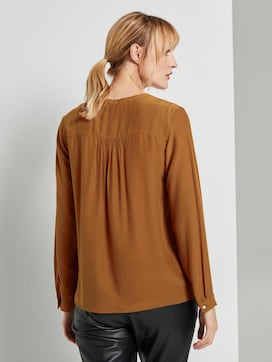 Basic blouse with button details - 2 - TOM TAILOR