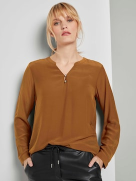 Basic blouse with button details - 5 - TOM TAILOR