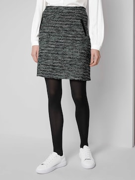Boucle mini skirt - 1 - TOM TAILOR