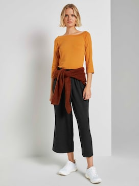 Melange culotte trousers - 3 - TOM TAILOR Denim