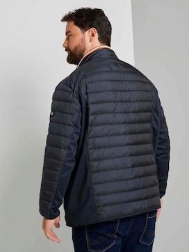 Hybride gewatteerde jas met opstaande kraag - 2 - Men Plus