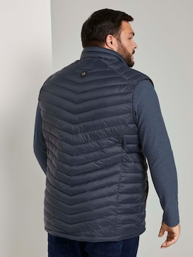lightweight Quilted vest with a stand-up collar - 2 - Men Plus