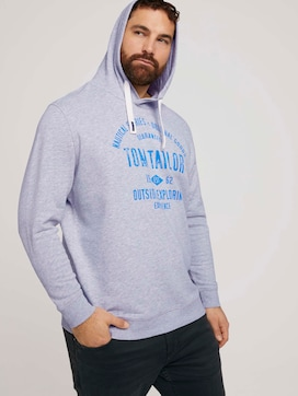 Hoodie with a logo print - 5 - Men Plus