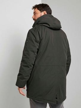 Winter parka met gevoerde hoodie - 2 - Men Plus