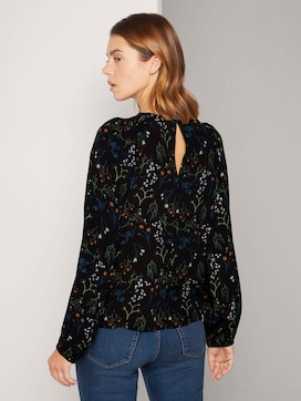 Patterned blouse with balloon sleeves - 2 - TOM TAILOR Denim