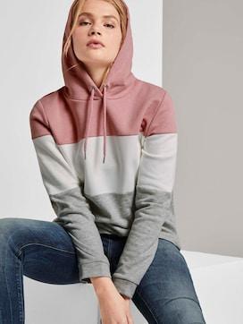Hoodie in colour blocking - 5 - TOM TAILOR Denim