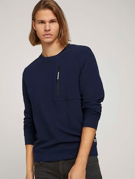 Sweatshirt mit Reißverschluss - 5 - TOM TAILOR Denim