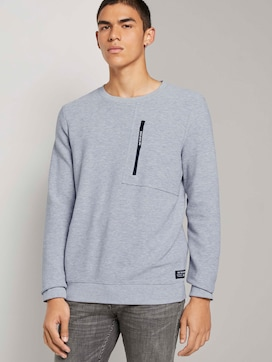 Sweatshirt with a zip - 5 - TOM TAILOR Denim