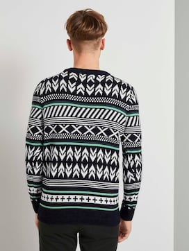 Gemusterter Strickpullover - 2 - TOM TAILOR Denim