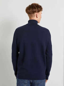 Rollkragenpullover mit Streifenstruktur - 2 - TOM TAILOR Denim
