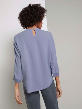 Losse blouse met geribde boorden - 2 - Mine to five