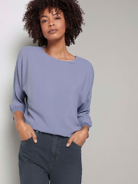 Losse blouse met geribde boorden - 5 - Mine to five