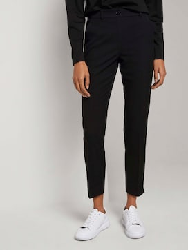 Cigarette trousers with an elastic waistband - 1 - Mine to five