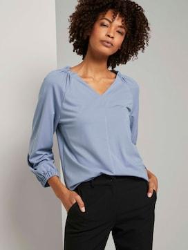 Blouse top met elastische mouwen - 5 - Tom Tailor E-Shop Kollektion