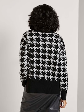 Houndstooth coltrui trui - 2 - Tom Tailor E-Shop Kollektion