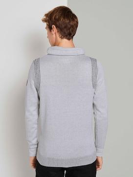 Gevlekte trui met opstaande kraag - 2 - TOM TAILOR
