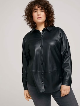 Blouse in faux leather - 5 - My True Me