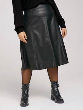 Faux leather midi skirt - 1 - My True Me