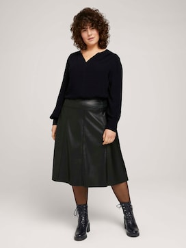 Faux leather midi skirt - 3 - My True Me