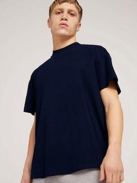 loose stand-up collar t-shirtmade with organic cotton  - 5 - TOM TAILOR Denim