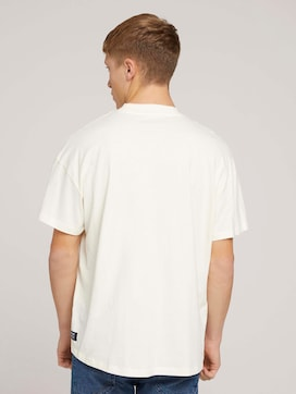 loose stand-up collar t-shirt made with organic cotton   - 2 - TOM TAILOR Denim
