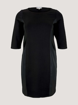Shift dress with faux leather insert - 7 - Tom Tailor E-Shop Kollektion