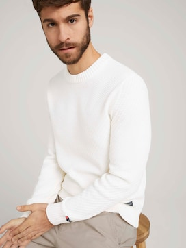 Knitted jumper with texture - 5 - TOM TAILOR