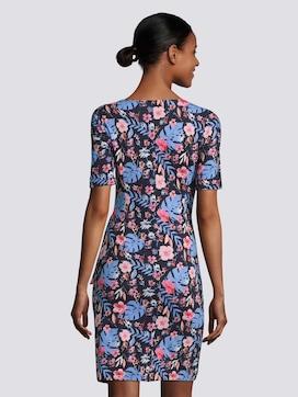 Jersey jurk met bloemenprint en knoopdetail - 2 - TOM TAILOR
