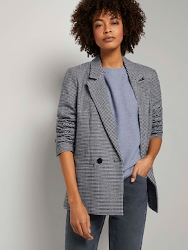 Loose Fit Blazer mit Hahnentritt-Muster - 5 - Mine to five