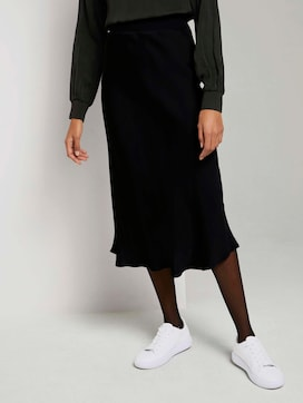 Midi satin skirt - 1 - Mine to five